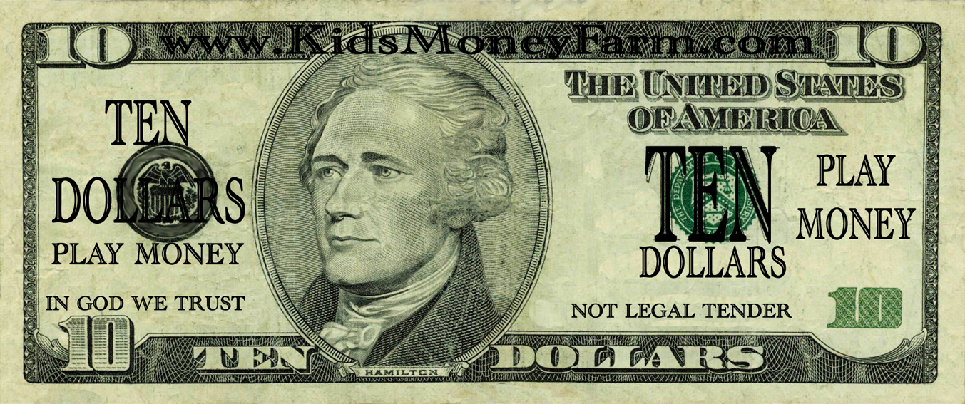 image relating to Printable Play Money Template called Downloadable and Printable Affordable Enjoy Monetary Templates