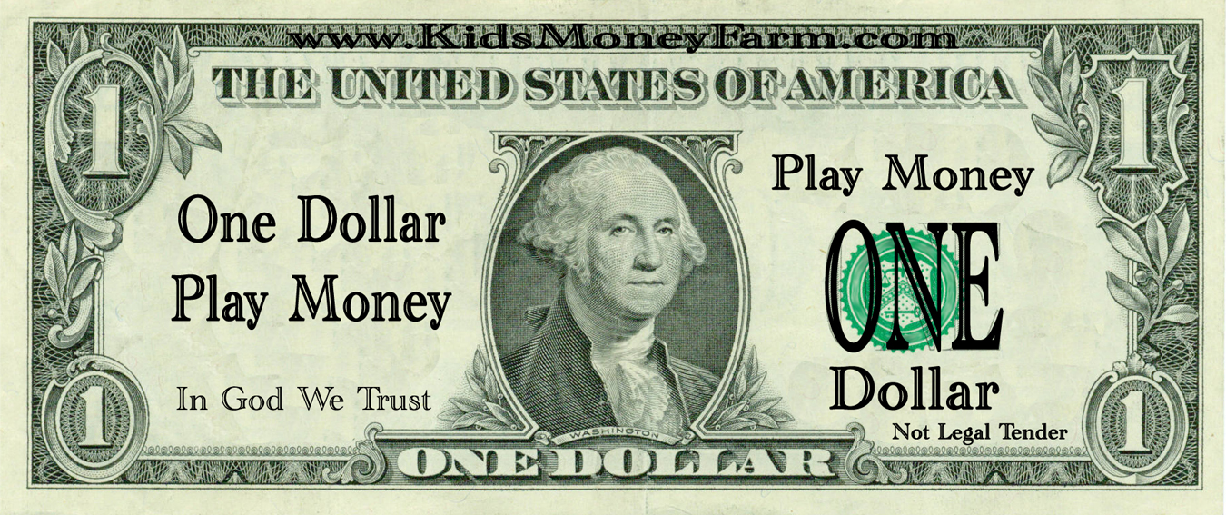 It is a graphic of Adaptable Fake Printable Money