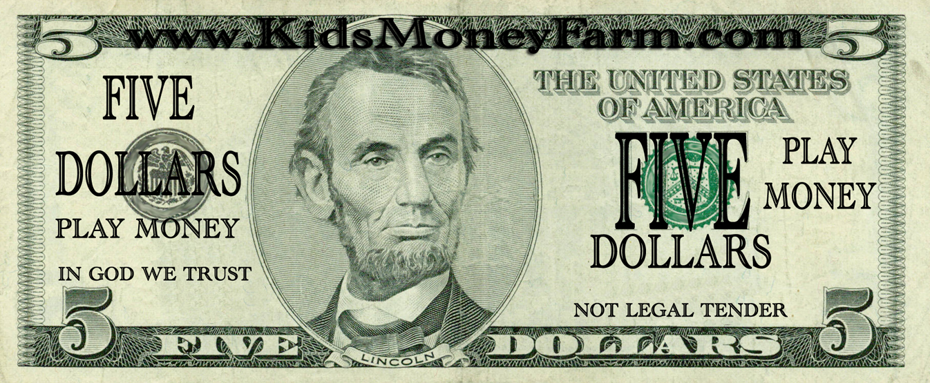 It is a photo of Resource Printable Fake Money
